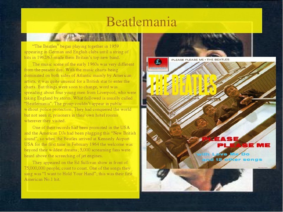 "Beatlemania ""The Beatles"" began playing together in 1959 appearing in German..."