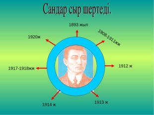 1920ж 1893 жыл 1908-1911жж 1914 ж 1913 ж 1912 ж 1917-1918жж