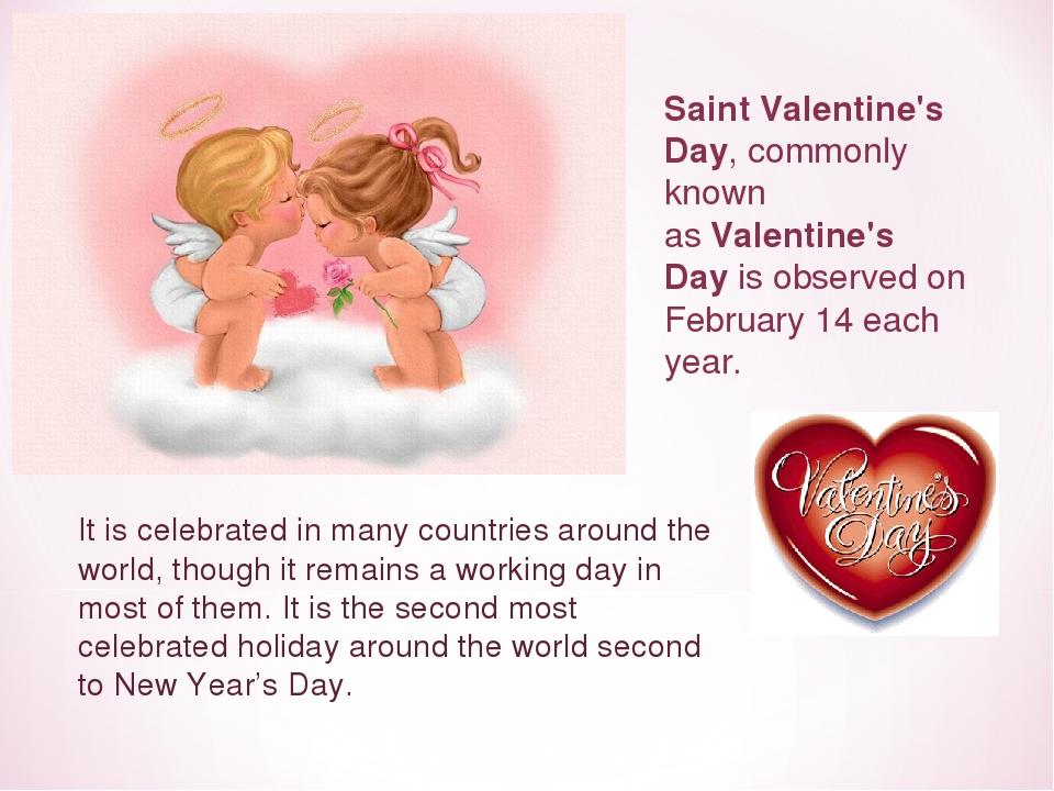 день святого валентина сочинение на английском считает, что
