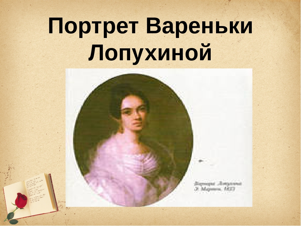 Портрет Вареньки Лопухиной
