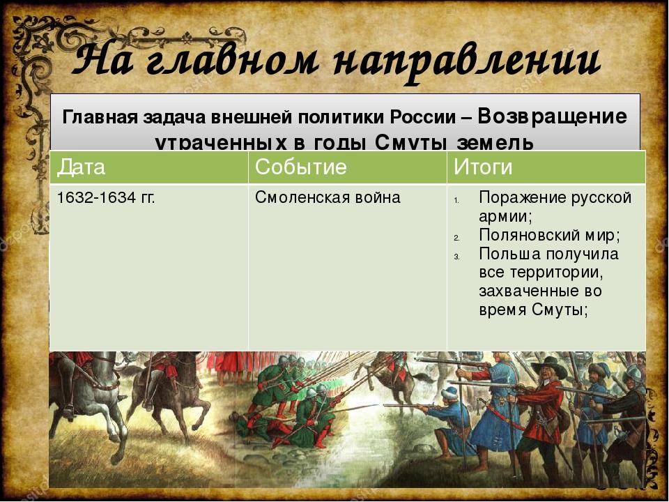 На главном направлении Главная задача внешней политики России – Возвращение у...