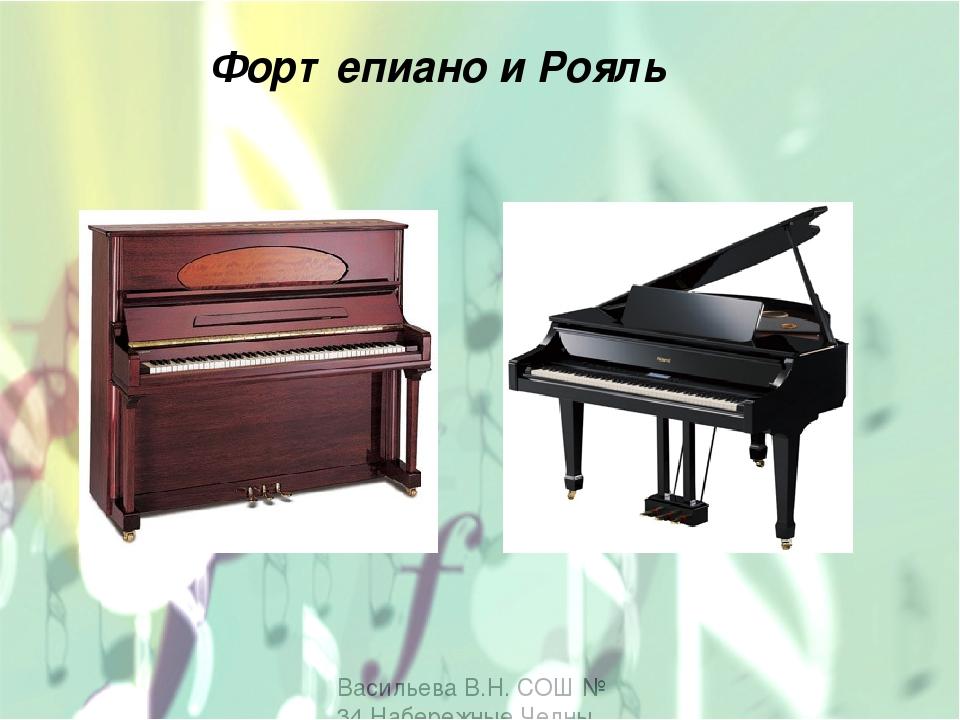 Васильева В.Н. СОШ № 34 Набережные Челны Фортепиано и Рояль