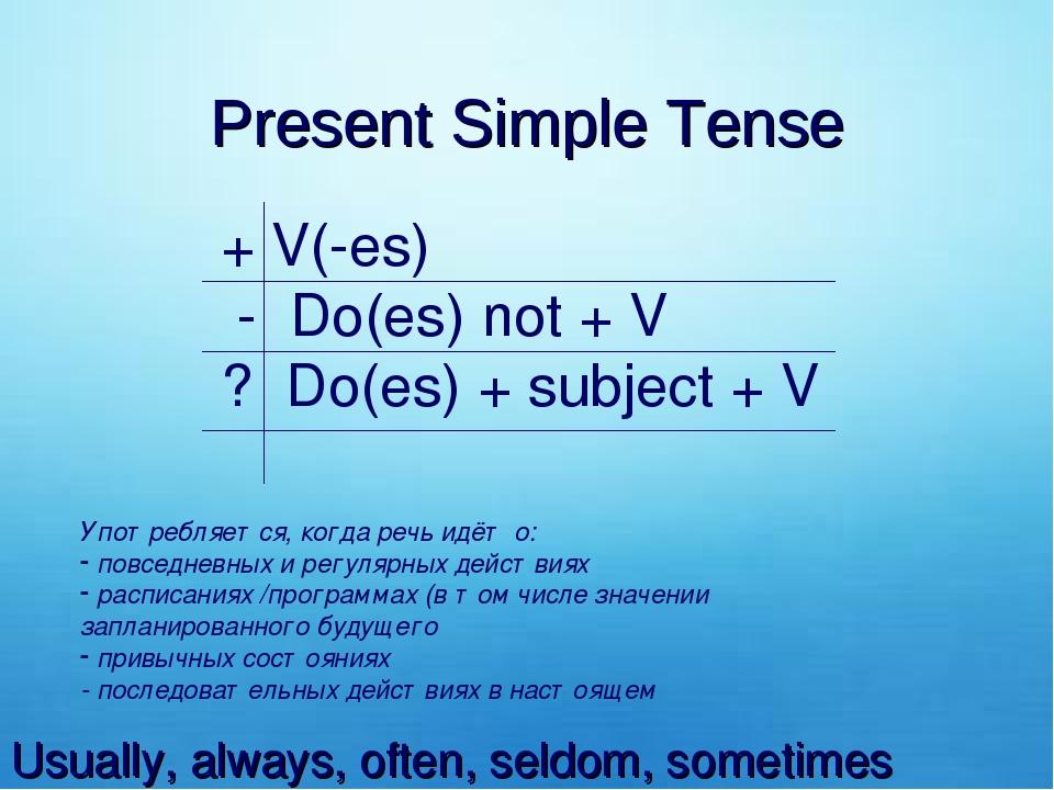 глаголы в Present Past или Future Simple Passive