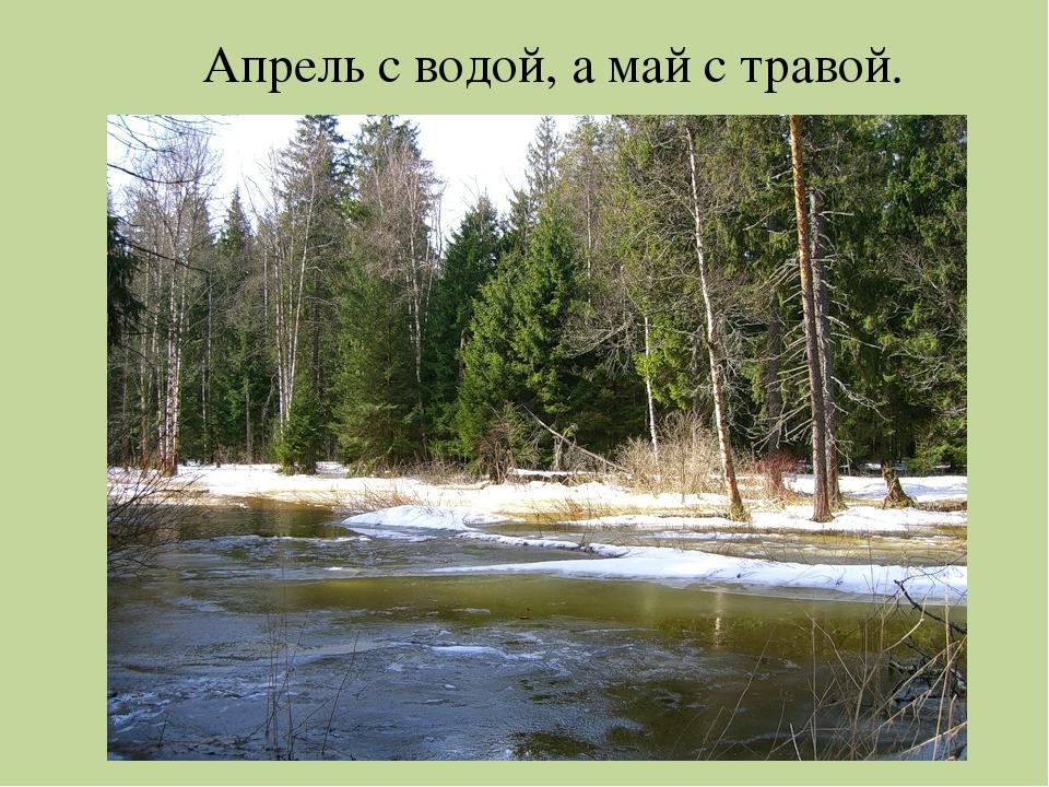 Апрель с водой, а май с травой.