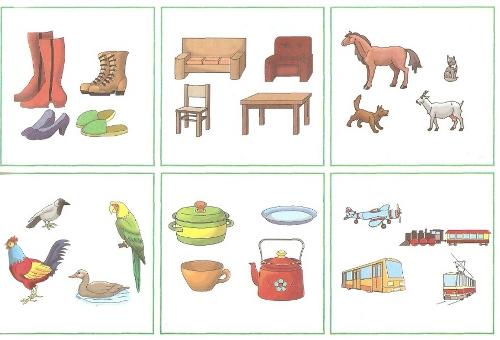 Картинки на классификацию предметов