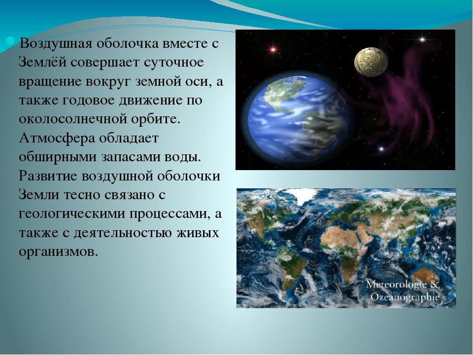 Атмосфера земли - воздушная оболочка планетыветер - движение воздуха вдоль поверхности землипогода