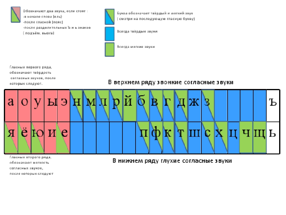 Фото схемы гласных и согласных