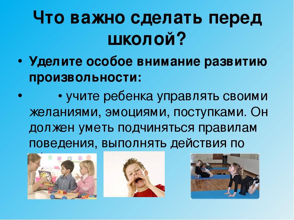 Что важно сделать перед школой? Уделите особое внимание развитию произвольнос...