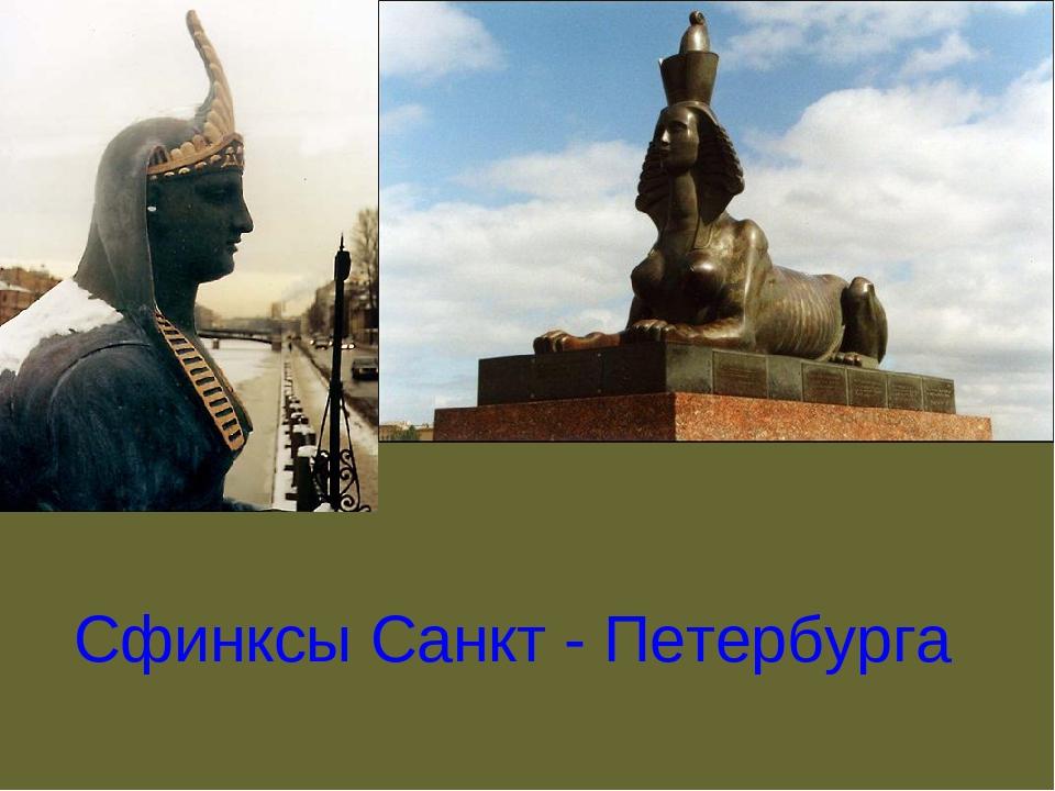 Сфинксы Санкт - Петербурга