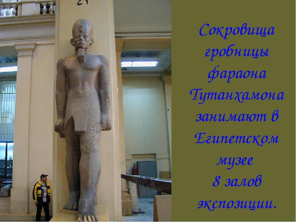 Сокровища гробницы фараона Тутанхамона занимают в Египетском музее 8 залов эк...
