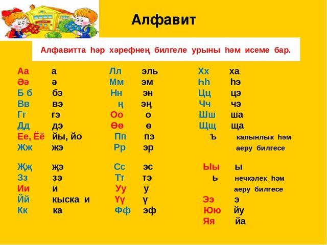 татарский алфавит с картинками вас получится красивое