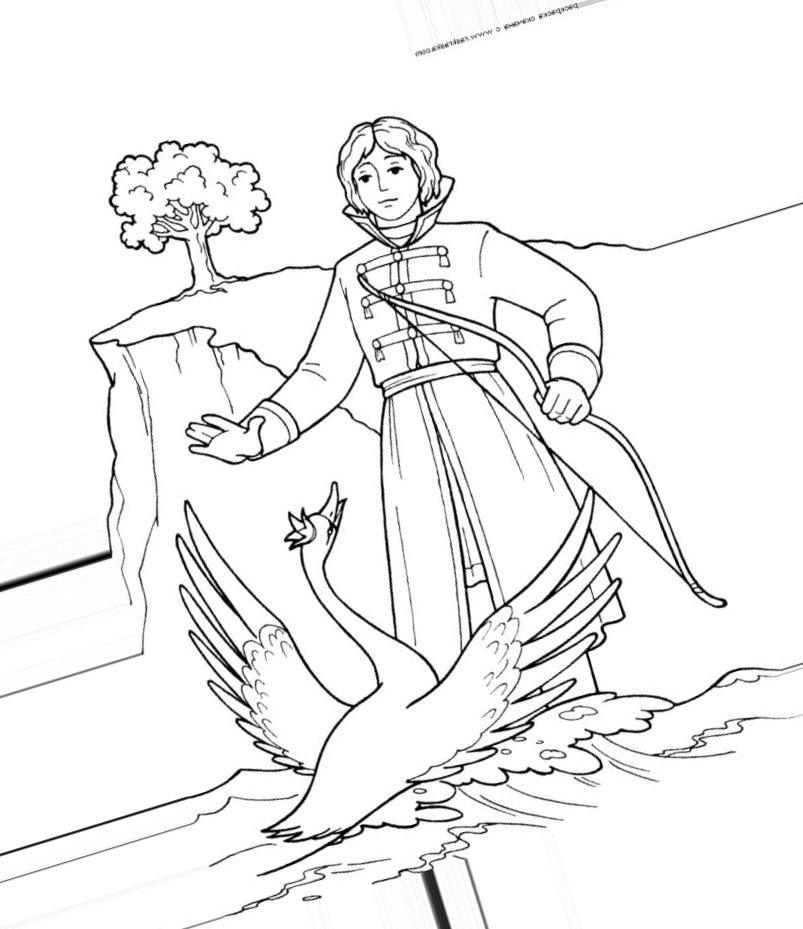 картинки раскраски на тему сказки пушкина того чтобы придумать