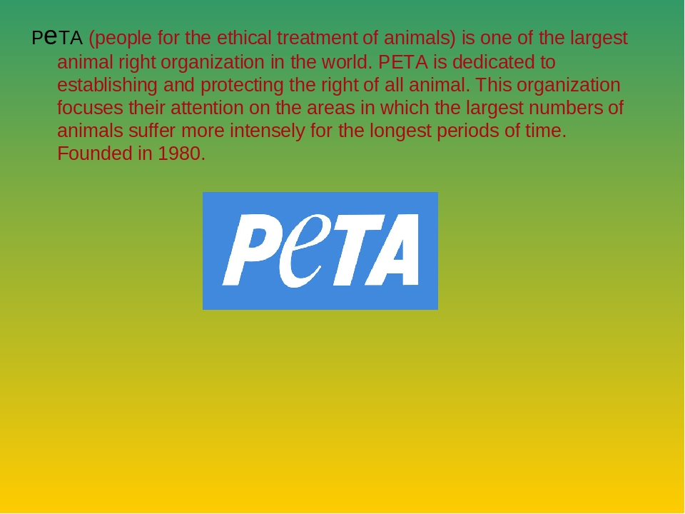 people for ethical treatment of animals peta News about people for the ethical treatment of animals commentary and archival information about people for the ethical treatment of animals from the new york times.