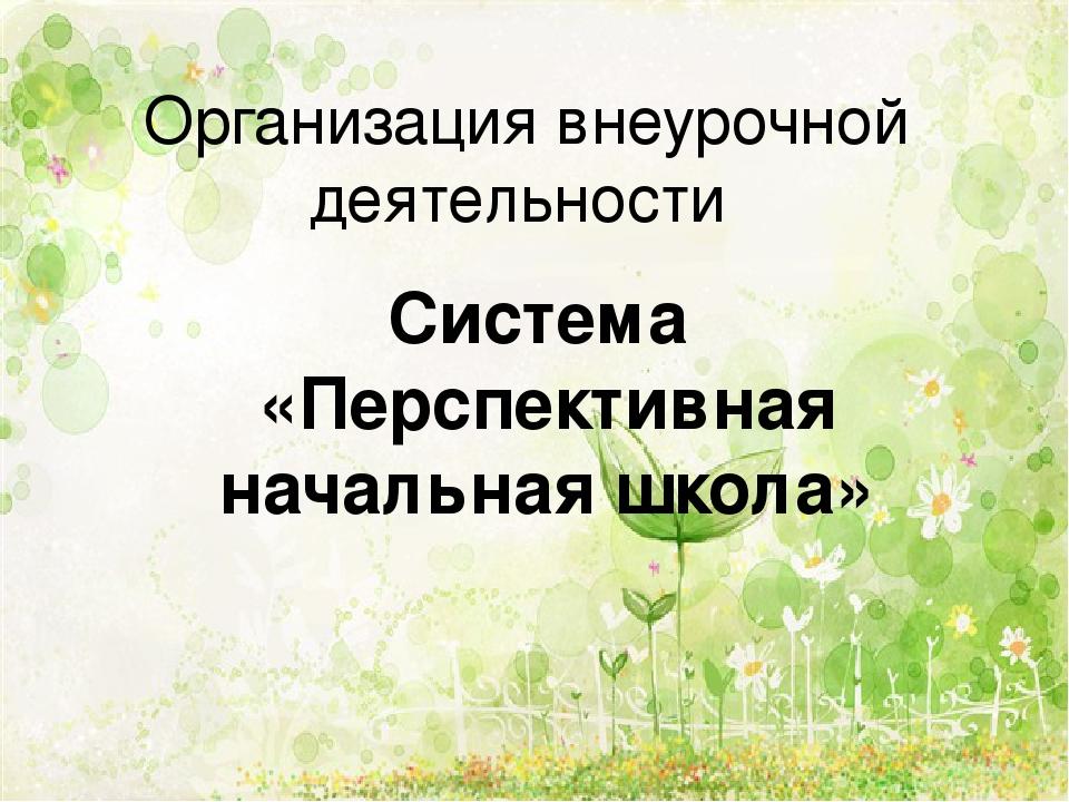 Организация внеурочной деятельности Система «Перспективная начальная школа»