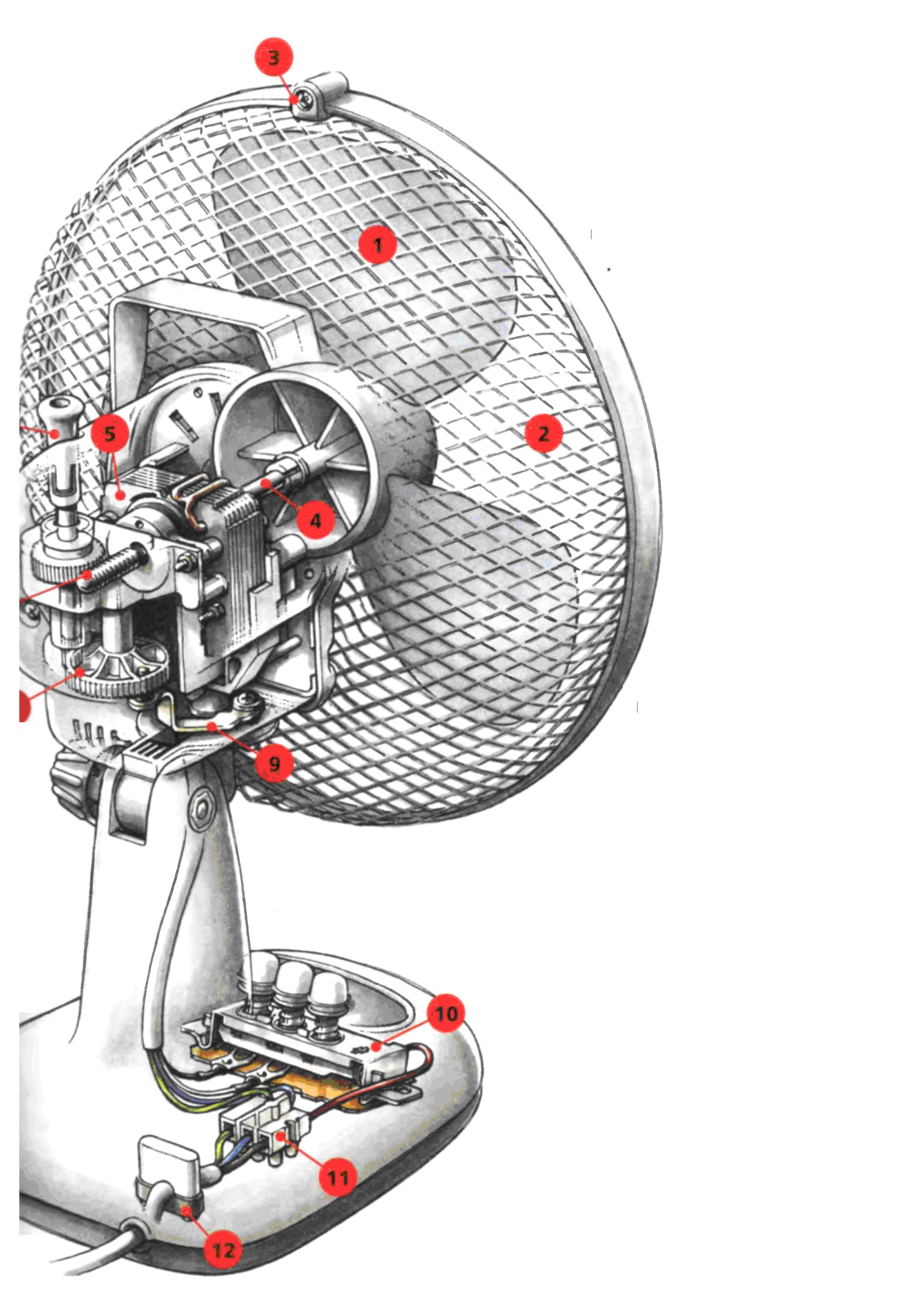 Схема подключения обмоток двигателя напольного вентилятора