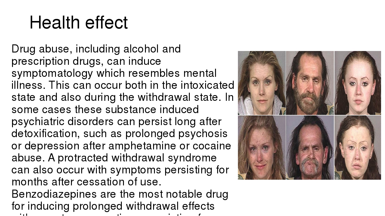 the effect of drug abuse on