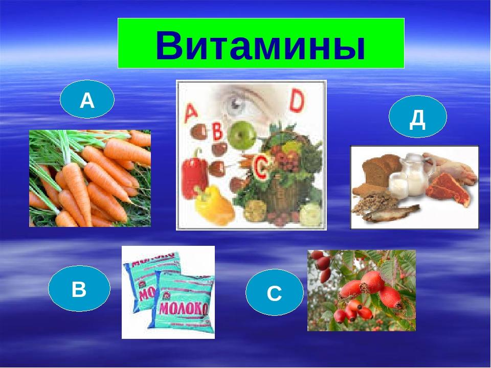 Витамины А В С Д