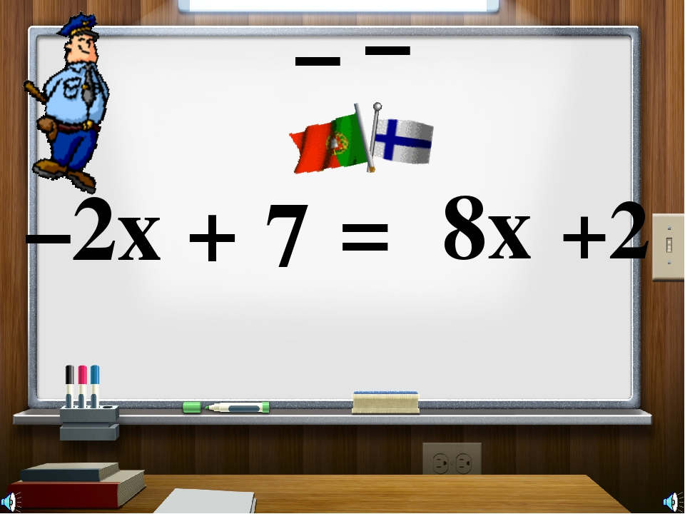 –2x + 7 = 8x +2 – –