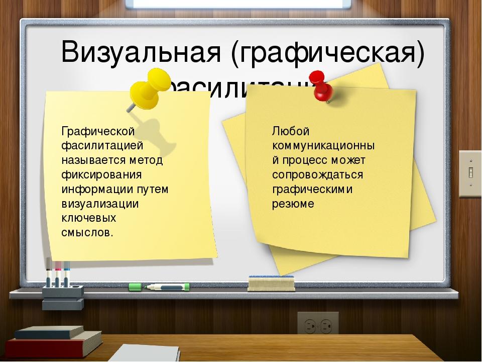 Визуальная (графическая) фасилитация Графической фасилитацией называется мет...