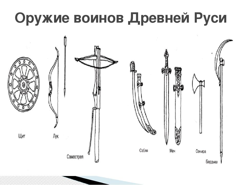 Картинки оружие древней руси
