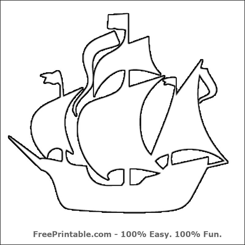 Шаблон корабля на открытку, новорожденной внучкой