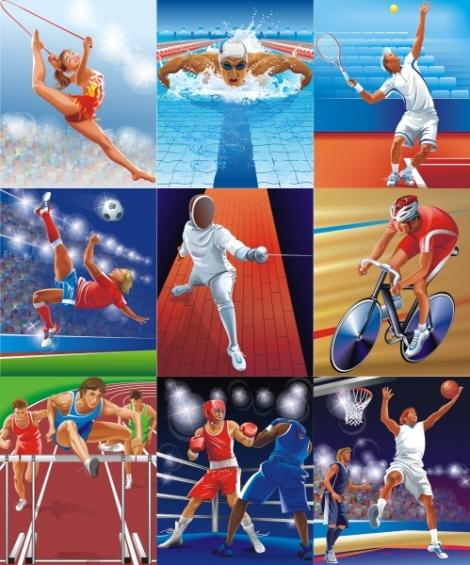 олимпийские резервы фотоколлаж вид