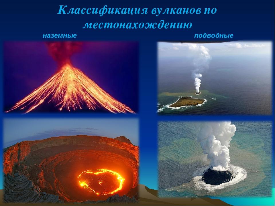 Виды вулканов картинка