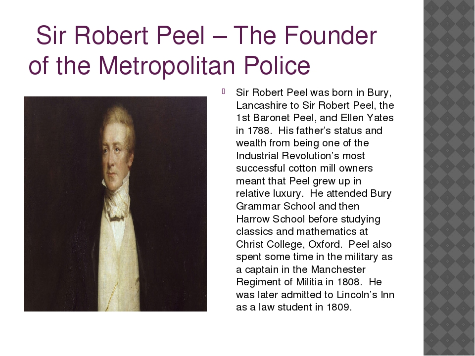 sir robert peel essay