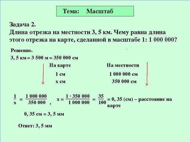 Масштаб задачи с решением 6 класс информатика решение задач на языке