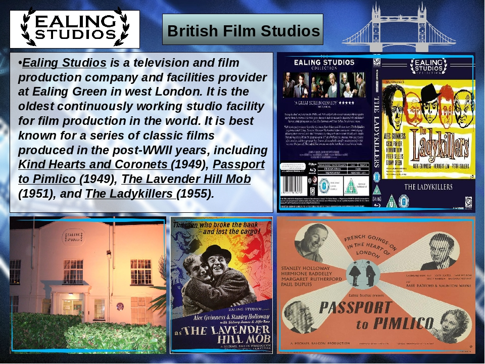 British Film Studios Ealing Studios is a television and film production compa...