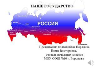 Презентацию подготовила Порядина Елена Викторовна, учитель начальных классов