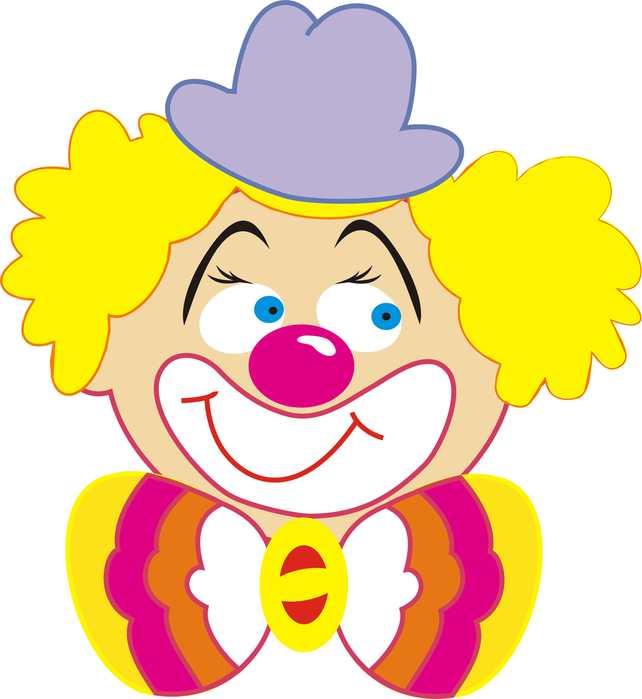 Веселый клоун рисунок для детей