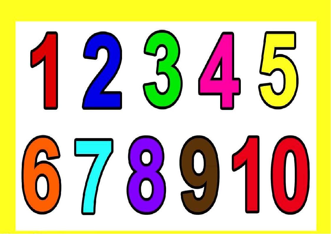 распечатать цветные картинки цифр чтении