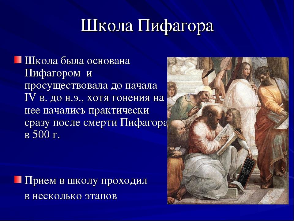картинки о пифагоре и его школе компании частные лица