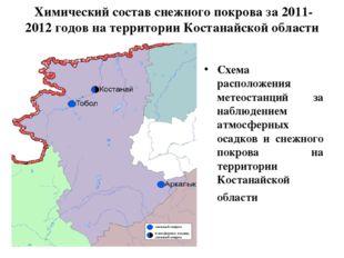 Химический состав снежного покрова за 2011-2012 годов на территории Костанай