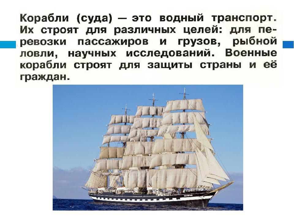 зачем строят корабли презентация 1 класс отопительно-варочной