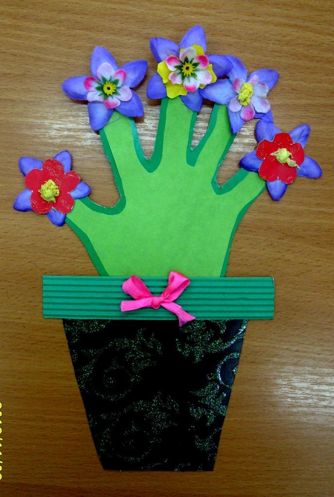 Открытка своими руками для праздника день мам