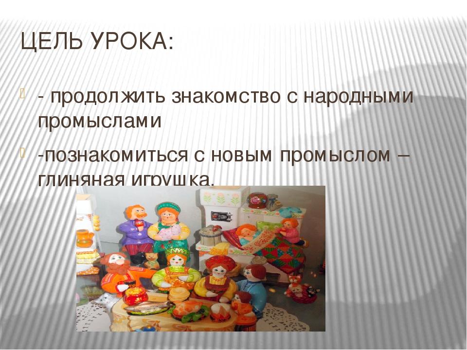Знакомство с народными промыслами презентация