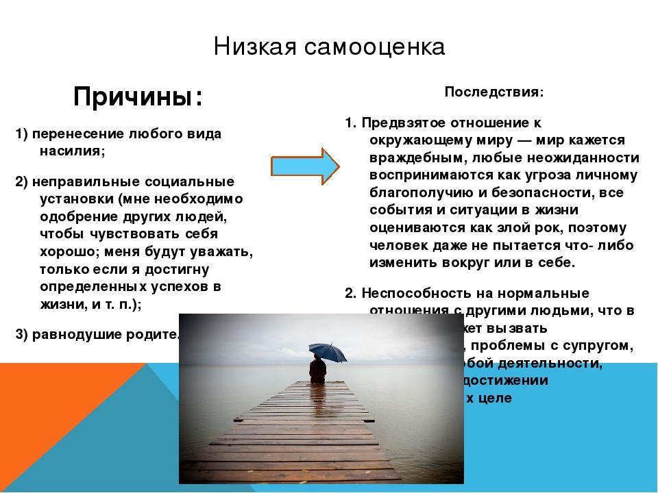 Причины: 1) перенесение любого вида насилия; 2) неправильные социальные устан...