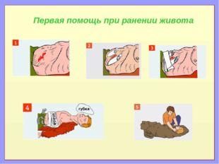 Первая помощь при ранении живота