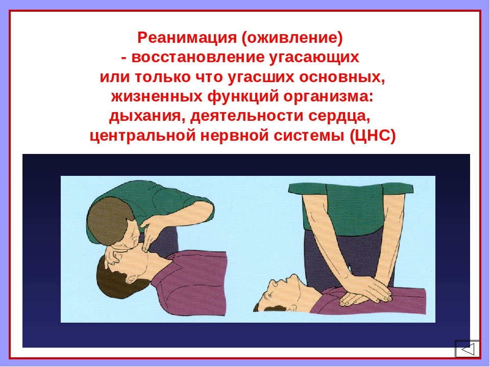 Реанимация (оживление) - восстановление угасающих или только что угасших осн...
