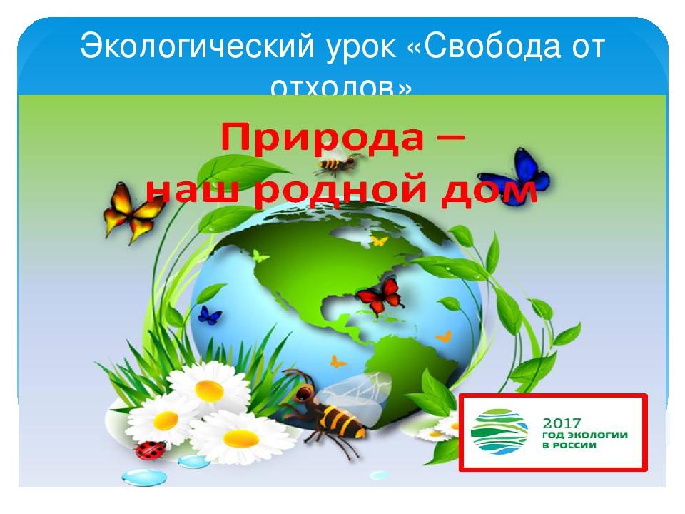 Экологический урок «Свобода от отходов»