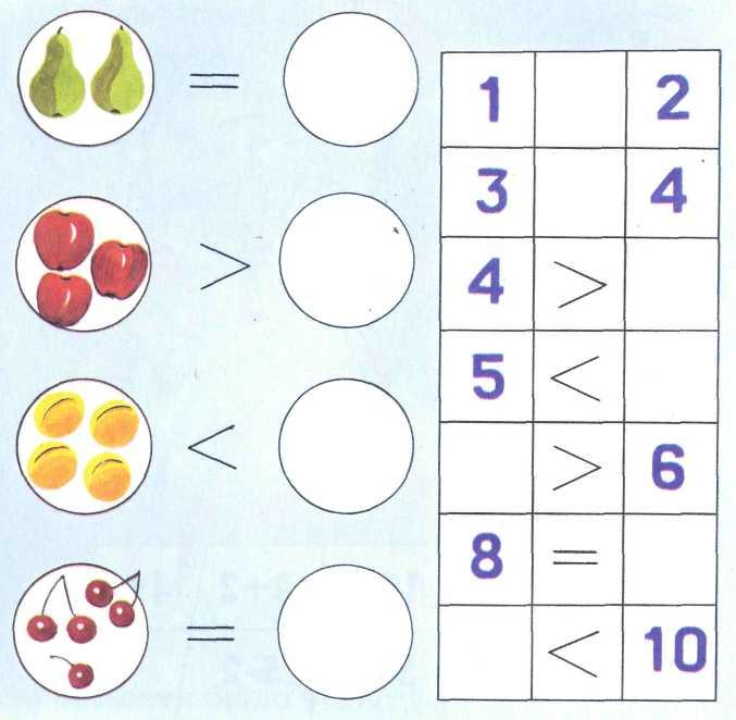 Картинки сравни числа