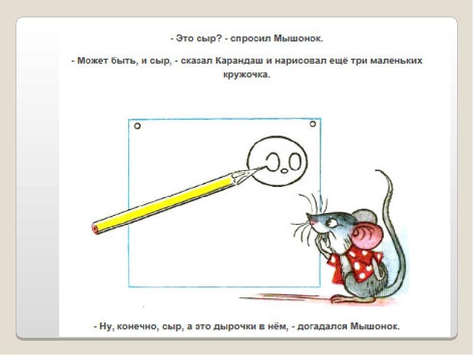 Сказка мышонок и карандаш с картинками