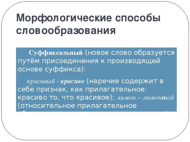 Словообразование в русском языке конспект урока 10 класс