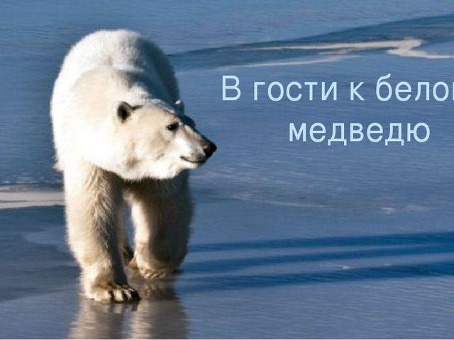 В гости к белому медведю Выполнила: Ученица 2 класса Кулакова Виктория В гост...