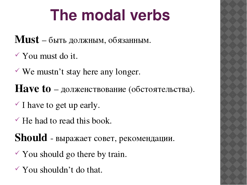 Английские модальные глаголы/ Modal verbs: can, may, must ...