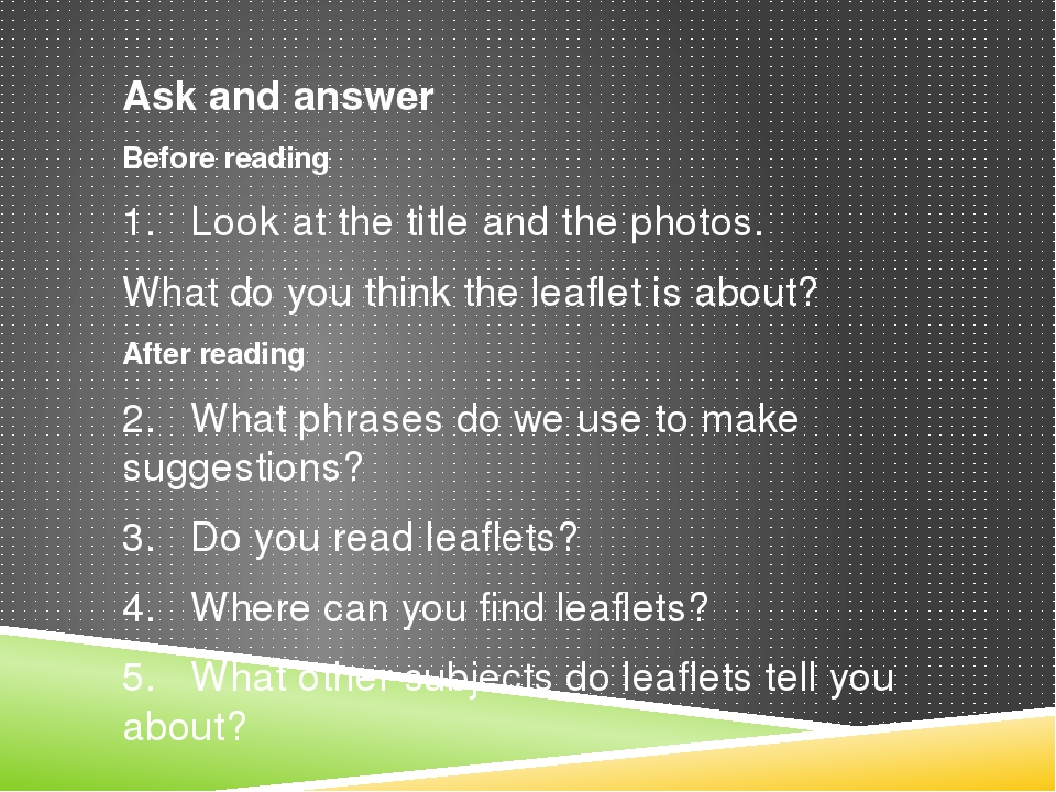 Ask and answer Before reading 1. Look at the title and the photos. What do yo...