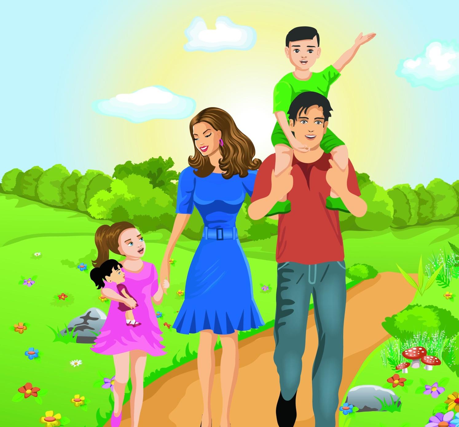 Картинка моя семья для дошкольников