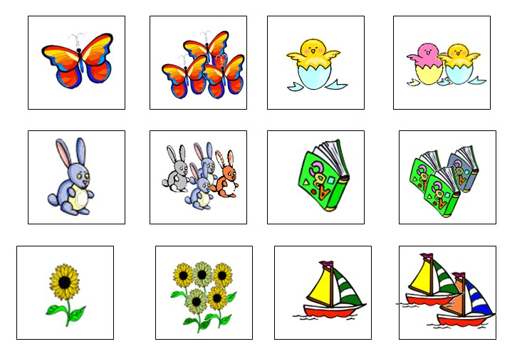 Картинки единственное и множественное число существительных